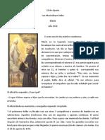 Biografía San Maximiliano Kolbe