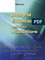 Integral Equations and Their Applications