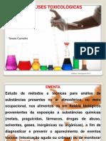1 Fundamentos Análise Toxicológica e Preparo de Amostras 2015-1