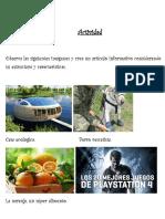 Actividad Crear Un Articulo Informativo