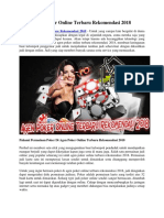 Agen Poker Online Terbaru Rekomendasi 2018 - Warungpoker99