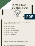 Quiz Anfisman Respirasik