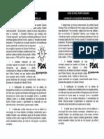 Panfleto Caludia Ja