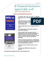 Banking & Financial Awareness (July 2018)