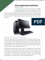 Daftar Harga Komputer Lengkap Dengan Spesifikasinya _ Info Menarik