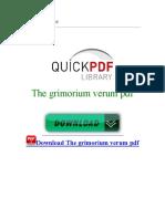 The Grimorium Verum PDF