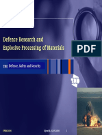 Explosive Processing of Materials Defence