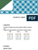 Razón de Cambio Matematica II
