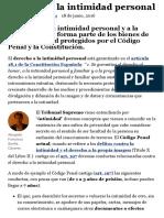 Derecho a La Intimidad Personal - Mundojuridico.info