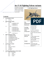 General Dynamics F-16 Fighting Falcon Variants
