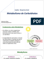 Carboidratos - Metabolismo