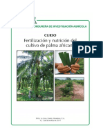 2. Fertilización y Nutrición Del Cultivo de Palma Africana.