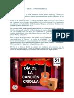 Dia de La Cancion Criolla