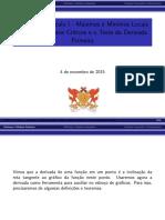 Extremos de Funcoes - MAT 140 - 2015-II