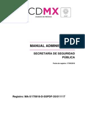 Manual Sspdf Policía Administración Pública