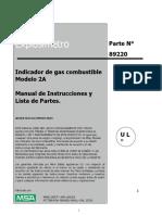 Manual de Operaccion Del Explosimetro