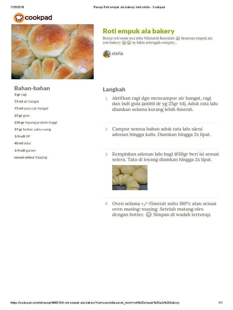 Resep Roti Empuk