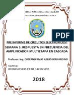 Pre Informe Respuesta Del Amplificador Multietapa en Cascada Electronicos 1