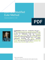 Euler and Modified Euler Method