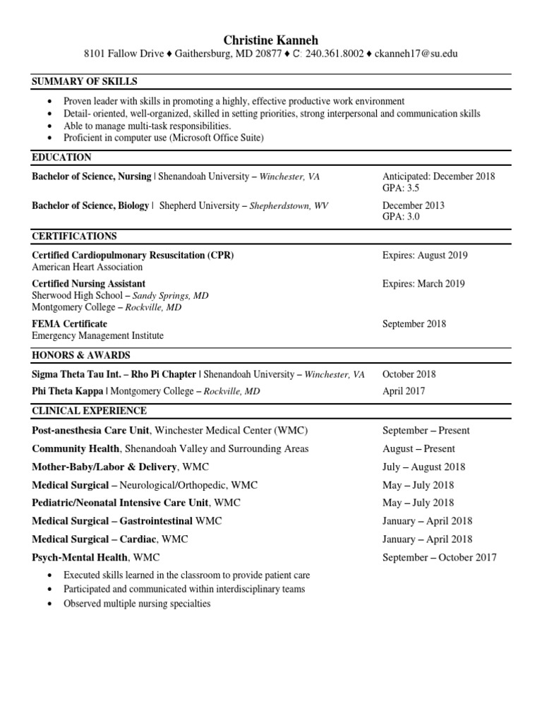 resume only 2018 | Nursing (6 views)
