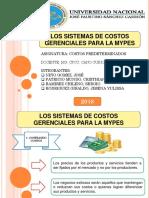 Sistema de Costos Gerenciales Para Mypes