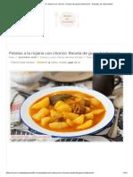 Patatas a La Riojana Con Chorizo. Receta de Guiso Tradicional - Recetas de ¡Escándalo!