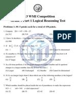 2013 WMI Grade 3 Solutions Part 1