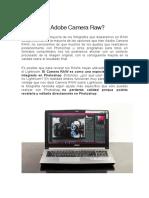 ¿Qué es el Adobe Camera Raw_