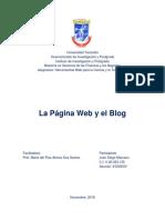 Página Web y Blog - 2da Evaluación - Herramientas Web Para La Ciencia y La Tecnología - Juan Diego Marcano - CI V-20023135
