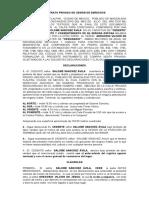 Contrato Privado de Cesión de Derechos II