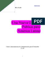 Un nueva gestión publica para América Latina