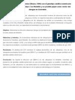 Infección de Aedes Albopictus (Skuse, 1894) Con El Genotipo Asiático-Americano Del Virus Del Dengue Serotipo 2 en Medellín y Su Posible Papel Como Vector Del Dengue en Colombia