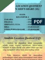 Kelompok 4 Analisis Location Quotient (Lq) Dan Shift-share