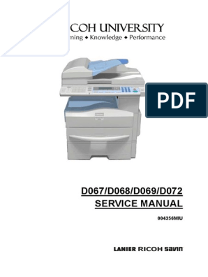 Ricoh Mp 171 - Service Manual | Photocopier | Image Scanner