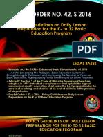 Daily Lesson Log Preparation