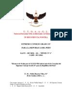 Discurso de Orden por 188 Aniversario del Supremo Consejo Grado 33° - E.·. H.·. Pablo Huertas Ulloa, 31°