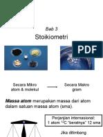 Kimia Dasar Stoikiometri