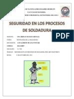 Trabajo de Soldadura - 1