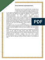 Biografía de Abraham Valdelomar Pinto