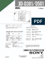 Sony Xo-d301 d501 Info