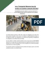Manufactura y Transporte Lideraron Tasa de Accidentes Laborales en El Primer Semestre Del 2017
