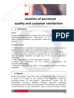 evaluation of perceived quality and customer satisfaction