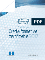 Catalogo Carreras Intecap 2017