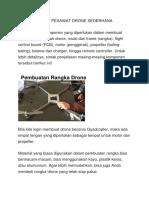 Cara Membuat Pesawat Drone Sederhana