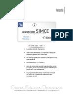 Ensayo2 Simce Matematica 4basico 2015