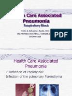 Healthcare Associated Pneumonia - Dr. Christian a. Johannes, Sp.an.KIC