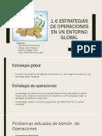 1.6 Estrategias de Operaciones en Un Entorno Global