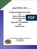 Standard PDI-G 101 Revised 2017