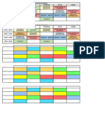 Horarios primier semester 18-19 UCE