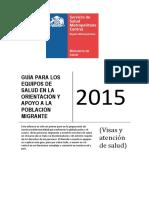 Guia Para Equipos Salud Orientacion Apoyo Poblacion Migrante Mayo 2015